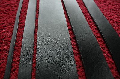 200 cm long BLACK LEATHER STRAP BELT BLANK STRIP width 10-100 mm 2 mm thick