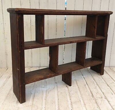 Vintage Solid Oak Rustic Industrial Pigeonhole Shelving Loft Warehouse Bookcase
