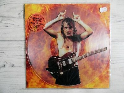 """AC/DC Highway to Hell Live Maxi Single / Clear Vinyl 12"""" Mint!!"""