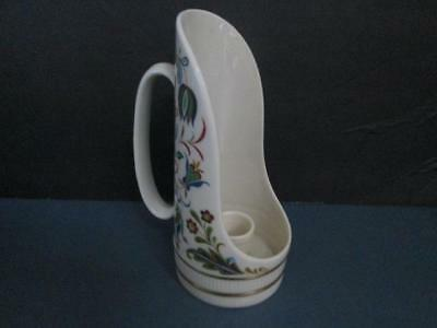 """Lenox Floral Candle Holder With Handle 7 1/2 """" High Real Nice Gently Used"""