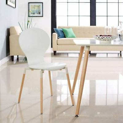 Modway Furniture Path Dining Wood Side Chair in White - EEI-1053-WHI