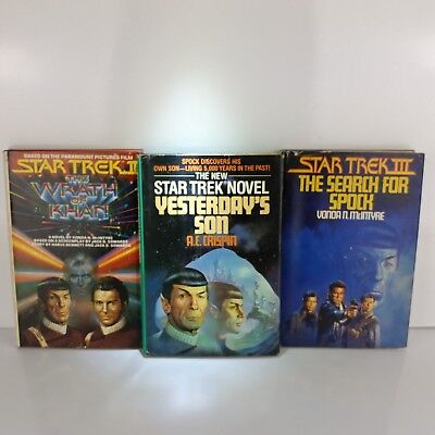 Star Trek Book Lot Wrath Of Khan Search For Spock Yesterday's Son McIntyre