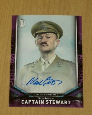 2018 Topps Doctor Who signature series AUTOGRAPH Mark Gatiss