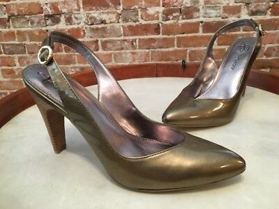e0eb1f6063e B MAKOWSKY BLACK Patent Leather Marcy Slingback Pumps 7 NEW -  29.95 ...