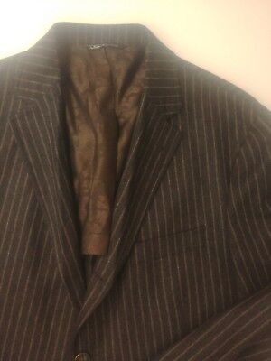 Jack Victor Prossimo Super 100s 3r2 Charcoal Pinstripe Blazer Size 42s
