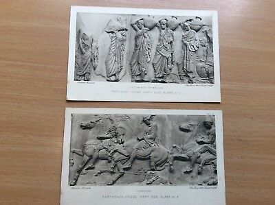 Two Old Postcards From British Museum Of Parthenon Frieze 1939 Classical Greece