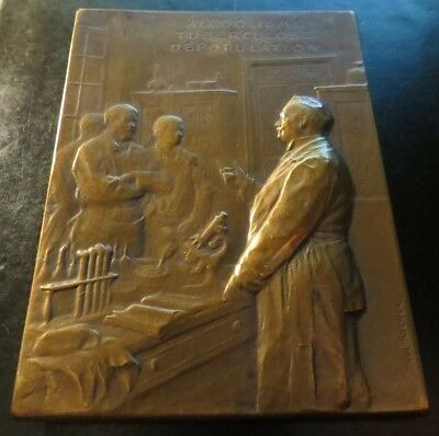 Bronze Medaille Plaque Dr Courmont by Richer -- Tuberculosis -- 1919