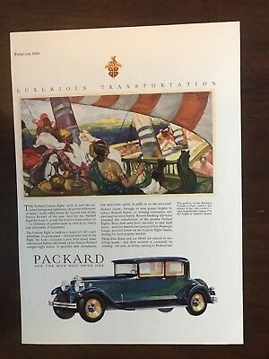 EE 1930 Packard Custom Eight Ad. 13 1/4 x 9 1/2. Check out the ad on the back