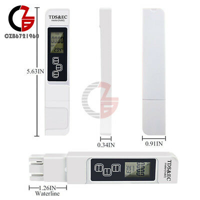3 In 1 TDS EC PPM Multifunctional LCD Display Water Quality Meter Tester Pen