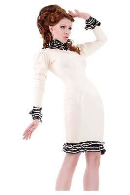 NP:360€ neu westward Bound new burlesque pin up Latex kleid dress gr.38 edel