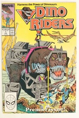 P761. DINO RIDERS #1 From Marvel Comics 9.0 VF/NM (1989) First Issue (M)