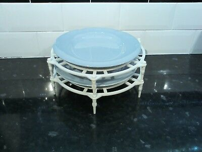 Single & Double Stack Microwave Plate Stand Rack 300mm Free Postage.