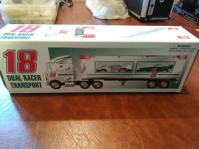 Rare Joe Gibbs #18 Dual Racer Transport Made By Hess Corporation Mib