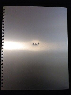 Sex By Madonna Silver Metal Cover Photo Book with serial number