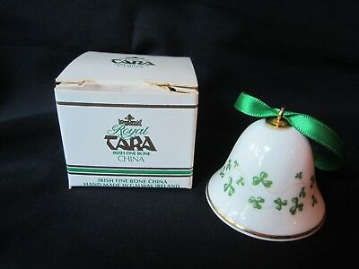 Vintage Royal Tara  Irish Fine Bone China Small Bell Shamrock W/ Tag Box
