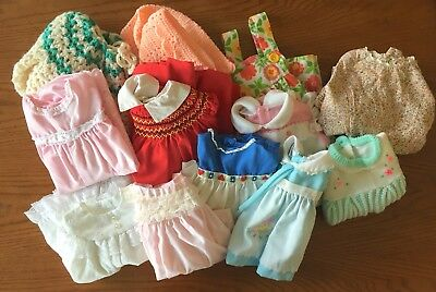 Vintage Lot Baby Toddler Girls Clothes Dress, Romper, Diaper Cover Newborn - 2T