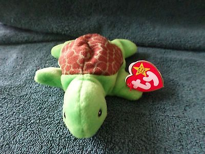 Mwmt Many Errors Ty Beanie Baby Speedy The Turtle Pvc Pellets Mint