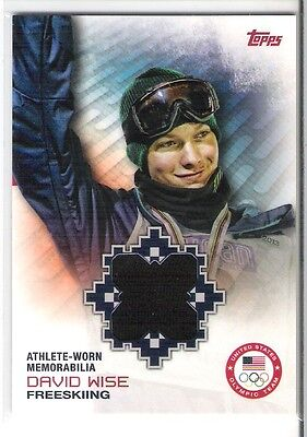 """TOPPS OLYMPIC TEAM """" DAVID WISE """" Free Style / Relic"""