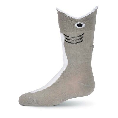 NEW K. Bell Kids Wide Mouth Shark Socks Jaws Child's Shoe Size 11-4