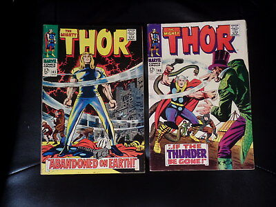 Mighty Thor Two Issue Lot #145 & 146 Fine+ or Better — No Reserve
