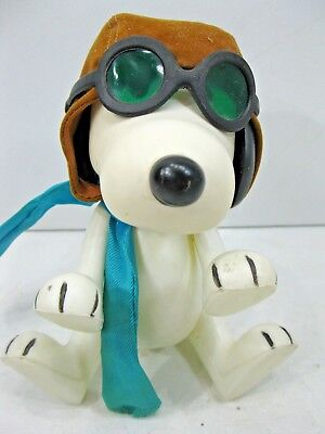 1966 Snoopy Flying Ace Peanuts Character Aviator Posable Figure Goggles