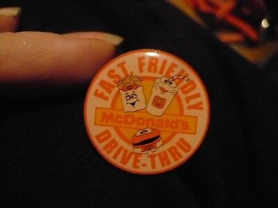 RARE Vintage McDonalds Fast Friendly Drive Thru Crew Pin