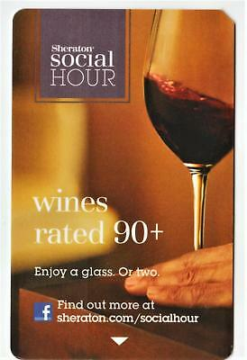 SHERATON HOTEL* Social Hour Wines rated 90+* hotel key card*&Fast Safe Ship  #52