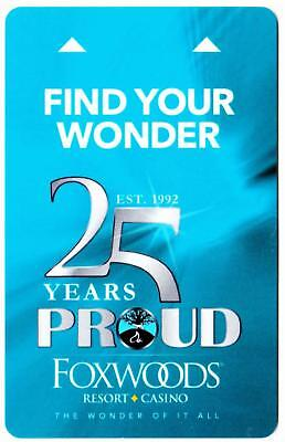 FOXWOODS CASINO hotel***25 Years proud  Blue*** key card Fast Safe Shipping #20
