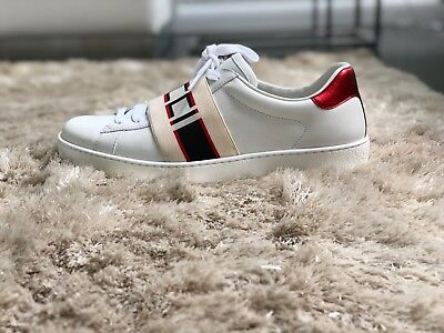 d9c7ef21d2a Gucci Stripe Leather Sneaker Gucci Size 6.5 Brand new with Original Receipt.