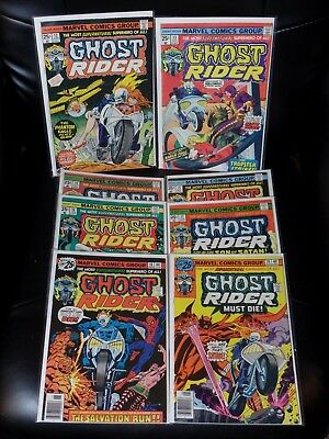 Ghost Rider Eight Issue Lot #12-19 Mid Grade Condition — No Reserve