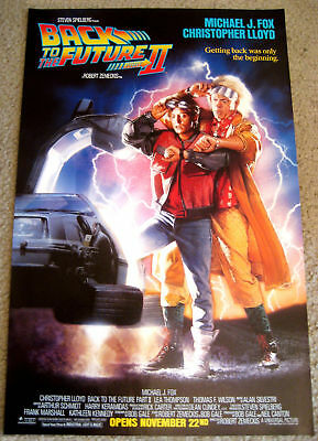 BACK TO THE FUTURE PART 2 POSTER II ONE 1989 MINT SHEET AUTHENTIC! Michael J Fox