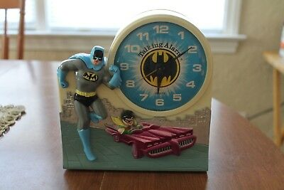 Vintage Batman & Robin Talking Alarm Clock by Janex Corp. 1974 parts or display