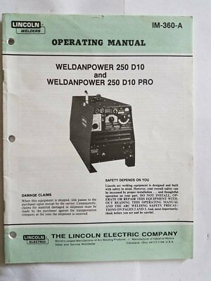 Lincoln welder operating manual