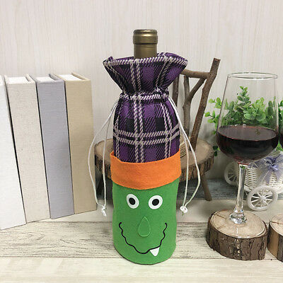 Halloween Cute Witch Pumpkin Bottle Decoration Supplies Festive Red Wine Bag