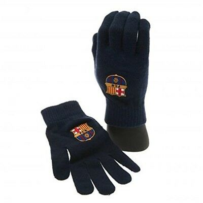 F.c Barcelona Knitted Gloves Adult Official Merchandise