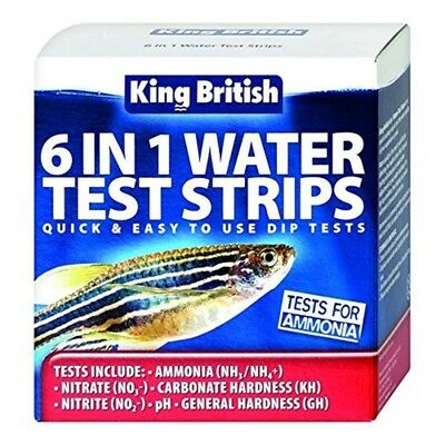 King British Test Strips 6 In 1 For Aquariums And Ponds
