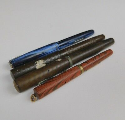 LOT of 4 Vintage Waterman's Fountain Pens For Parts Or Restoration