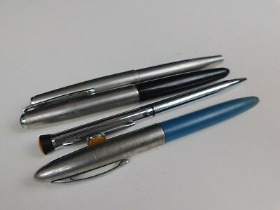 LOT of 4 Parker Sheaffer Garland Vintage Fountain Pens For Parts Or Restoration