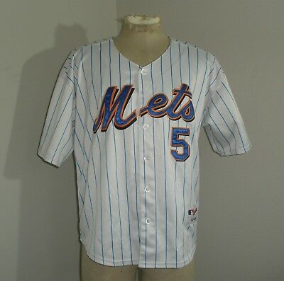 Mens Majestic NY NEW YORK METS David WRIGHT #5 SEWN MLB Jersey 48