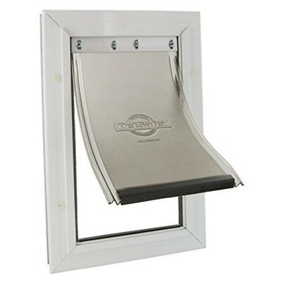 Staywell Heavy Duty Aluminium Dog Door White 40x28cm