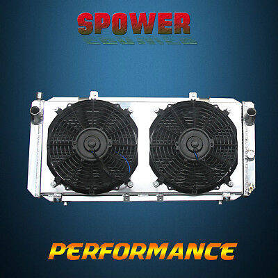 2-Row/CORE Aluminum Radiator+Fan Shroud For Toyota MR2 Turbo Coupe L4 2.0L 91-95