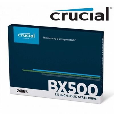 "SSD 240GB Crucial BX500 Internal Solid State Drive Laptop 2.5"" SATA III 540MB/s"