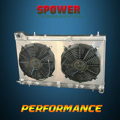 2-Row/CORE Aluminum Radiator+Fan Shroud For Subaru Forester XT Premium 04-05
