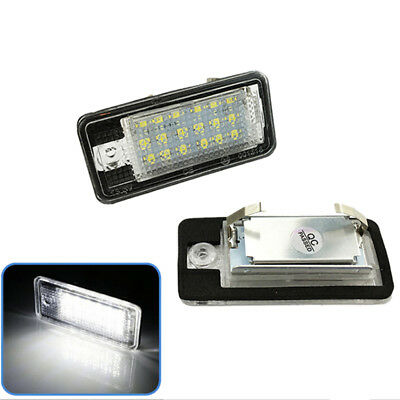 2PCS LED License Number Plate Light For Audi A4 A6 A3 S3 S4 S6 A8 Rs6 Q7_S