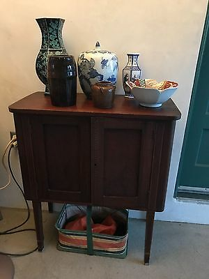 RARE FEDERAL SIDEBOARD 1700's -1800's INLAID CABINET ORIGINAL ANTIQUE  AMERICAN