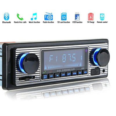 Bluetooth vintage car radio MP3 player stereo usb aux classic car stereo audio_S