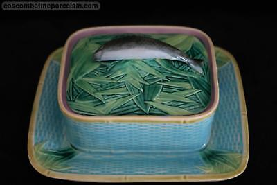 OFFER **PERFECT** George Jones Majolica Sardine Lidded Box circa 1870