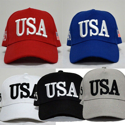 USA Flag Printed Washed Baseball Cap Men Women Letter Snapback Embroidery Hat