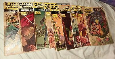 classics illustrated 9 issue comics lot ALL FIRST PRINT EDITIONS! run set book