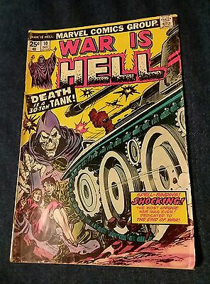 War is Hell #10 December 1974 VG Death is a 30 Ton Tank 2nd appearance of death